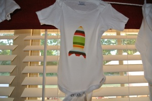 Baby Shower Onesie Iron On Rocket