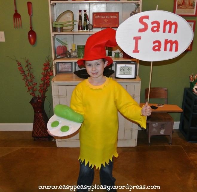 Dr. Seuss Sam I am costume 1