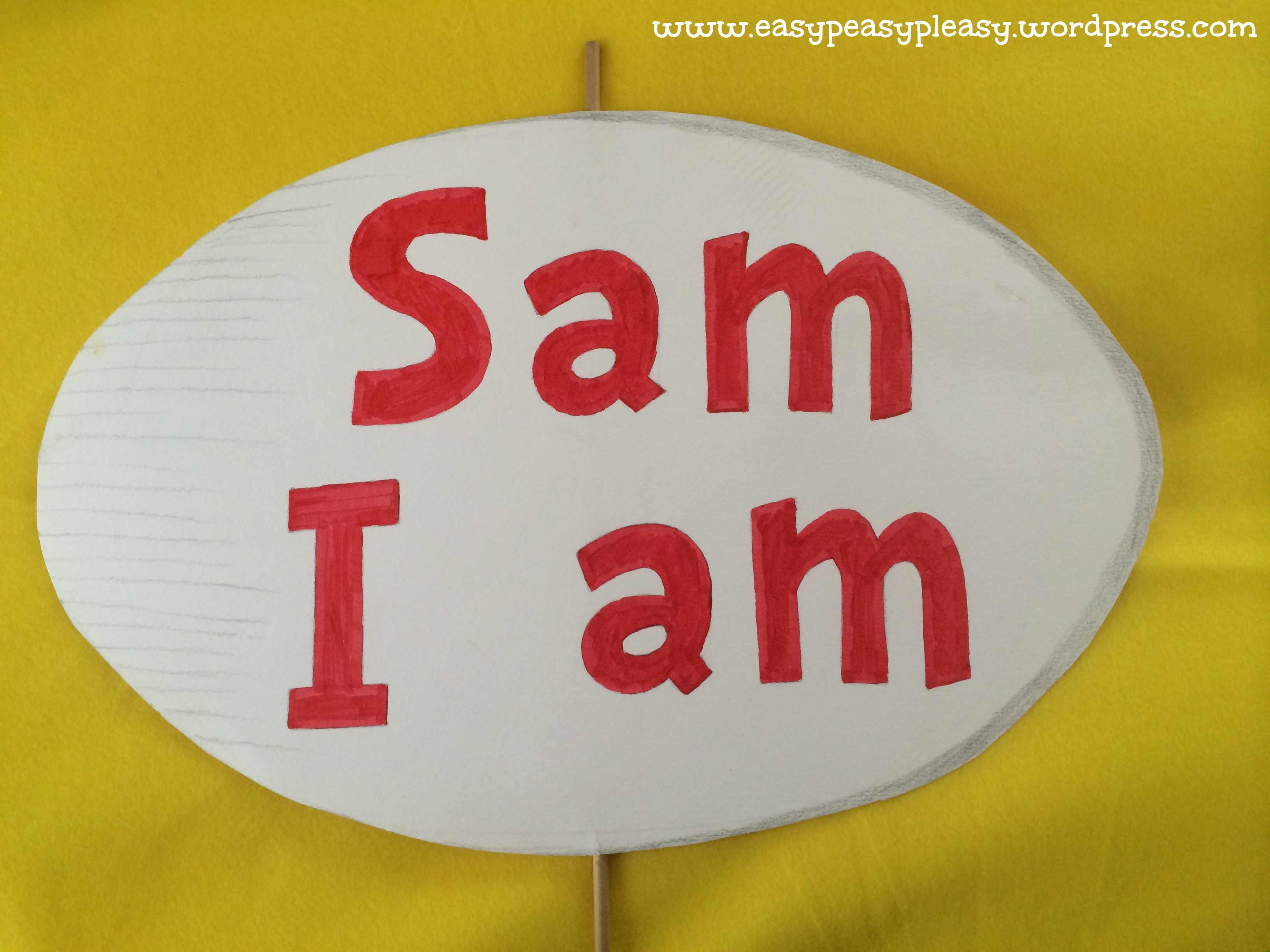 All Things Dr. Seuss-Sam I am Costume - Easy Peasy Pleasy I Am Sam Dr Seuss