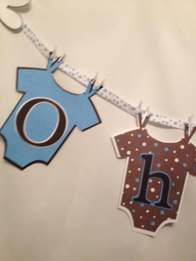 Mickey Mouse Baby Shower banner Cricut