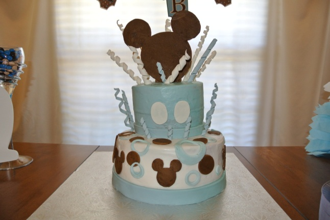 Mickey Mouse Baby Shower Cake-001