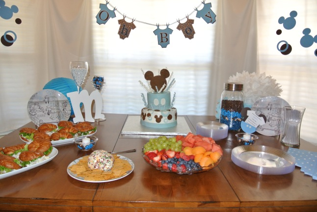 Mickey Mouse Baby Shower Food Table