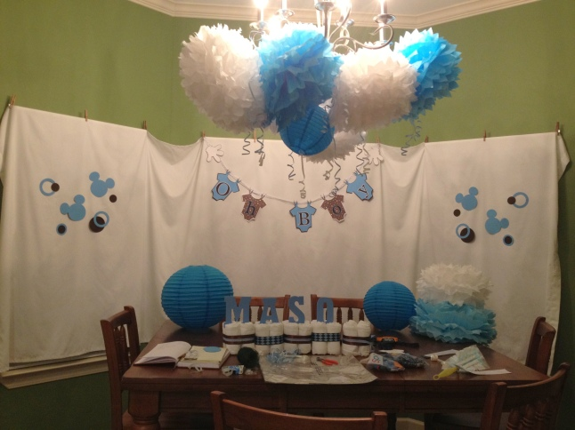 Mickey Mouse Baby Shower in the making