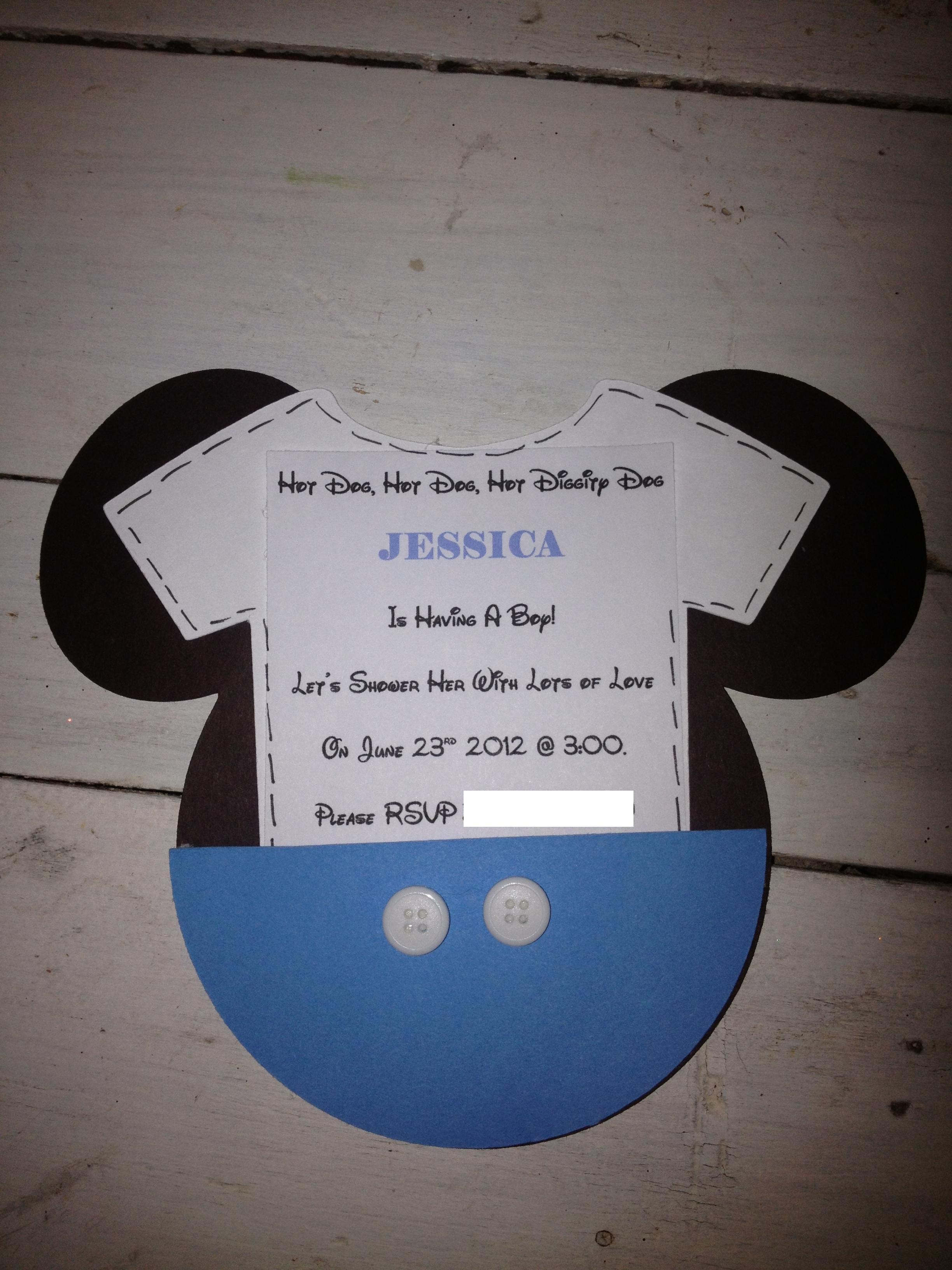 mickey mouse inspired baby shower  easy peasy pleasy, Baby shower invitations