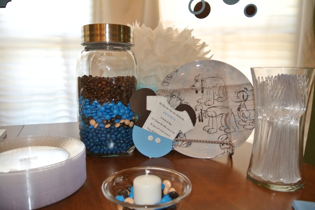Mickey Mouse Baby Shower Mason Jar