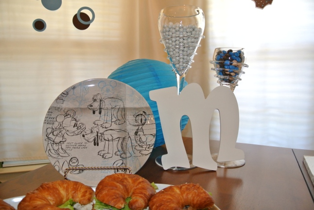 Mickey Mouse Baby Shower Plate