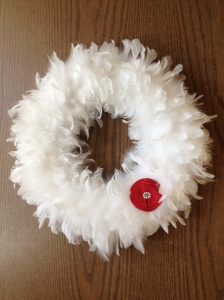 PTO Teachers Lounge Valentine feather wreath
