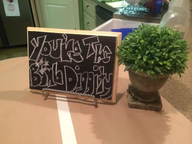 Super Bowl Football Birthday Party chalkboard