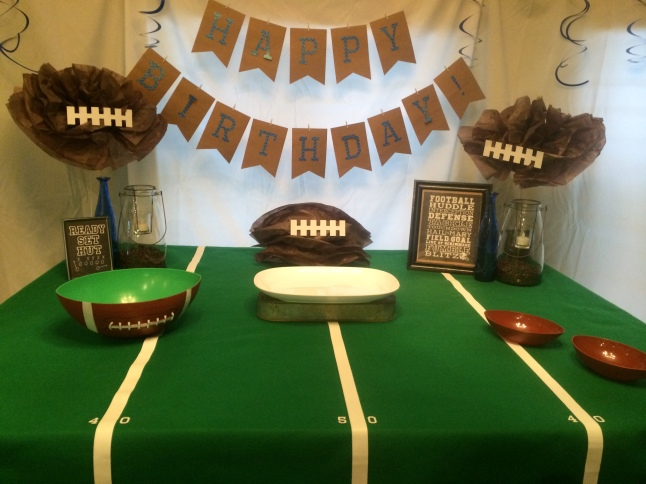 Super Bowl Football Birthday Party tablescape