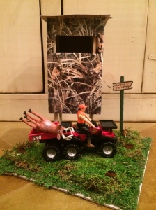 Valentine box deer stand front view