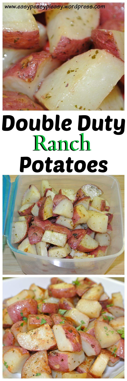 Double Duty Ranch Potatoes Recipe Idea found at www.easypeasypleasy.wordpress.com