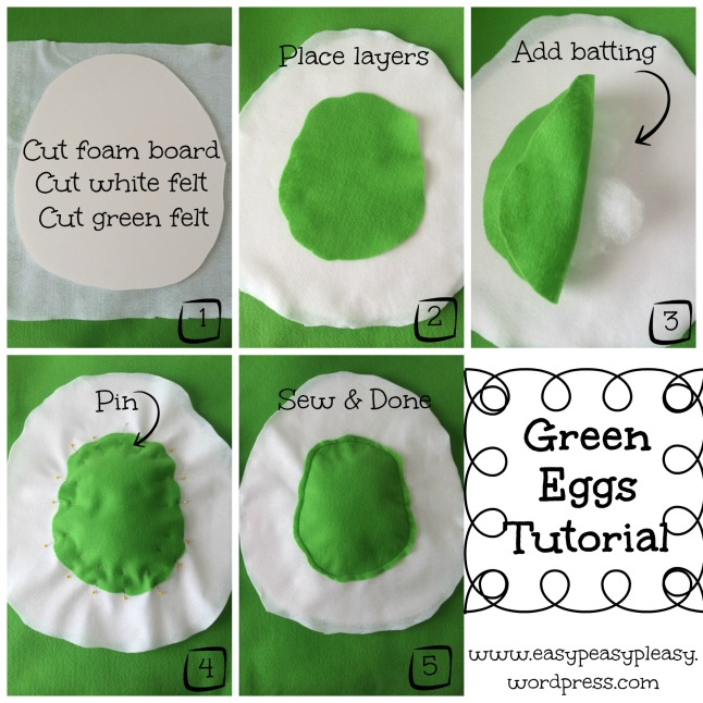 Green Eggs Tutorial for Dr. Seuss Sam I Am Green Eggs and Ham Costume collage