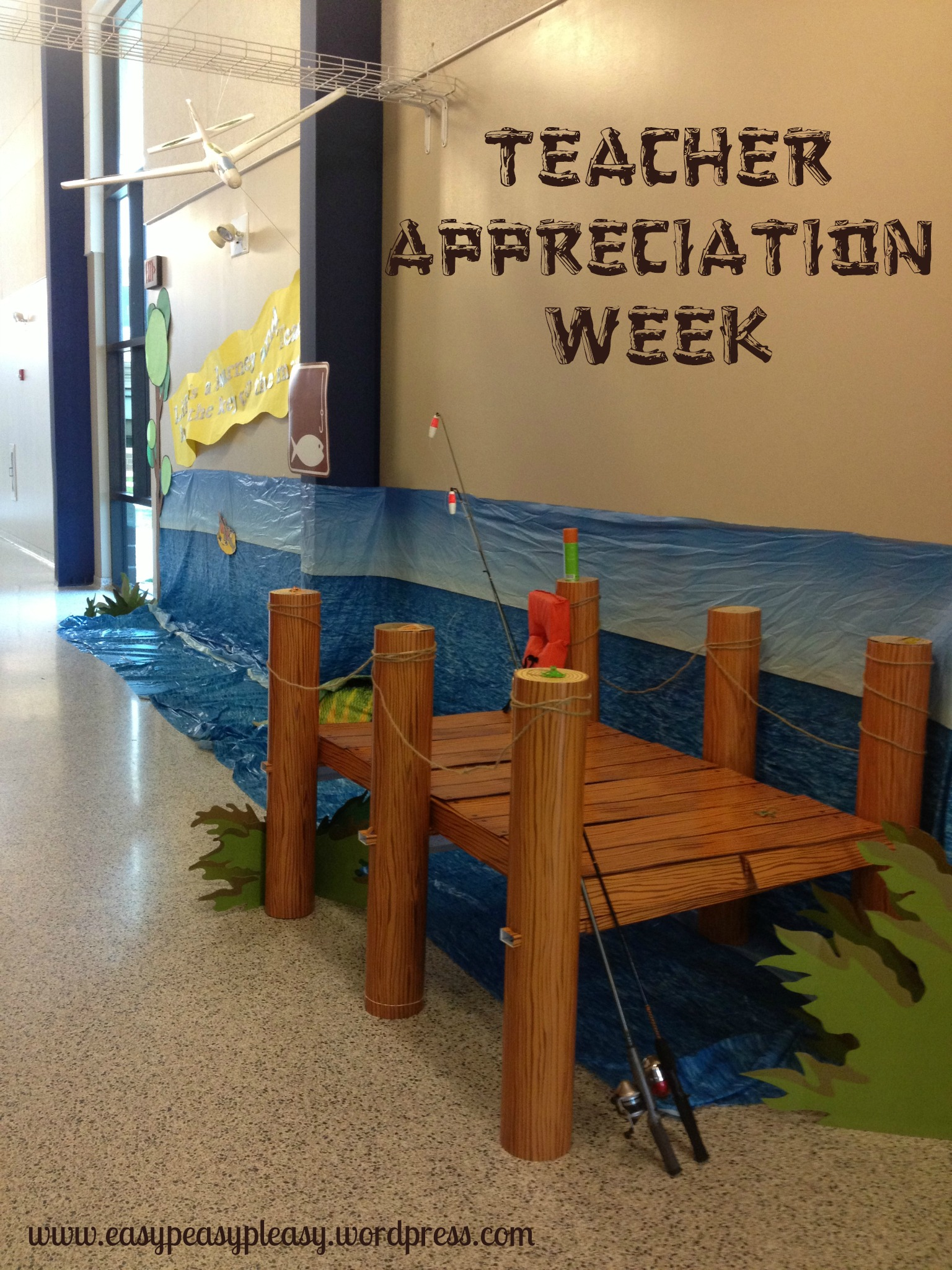 Teacher Appreciation Week Camping Theme Boat Dock