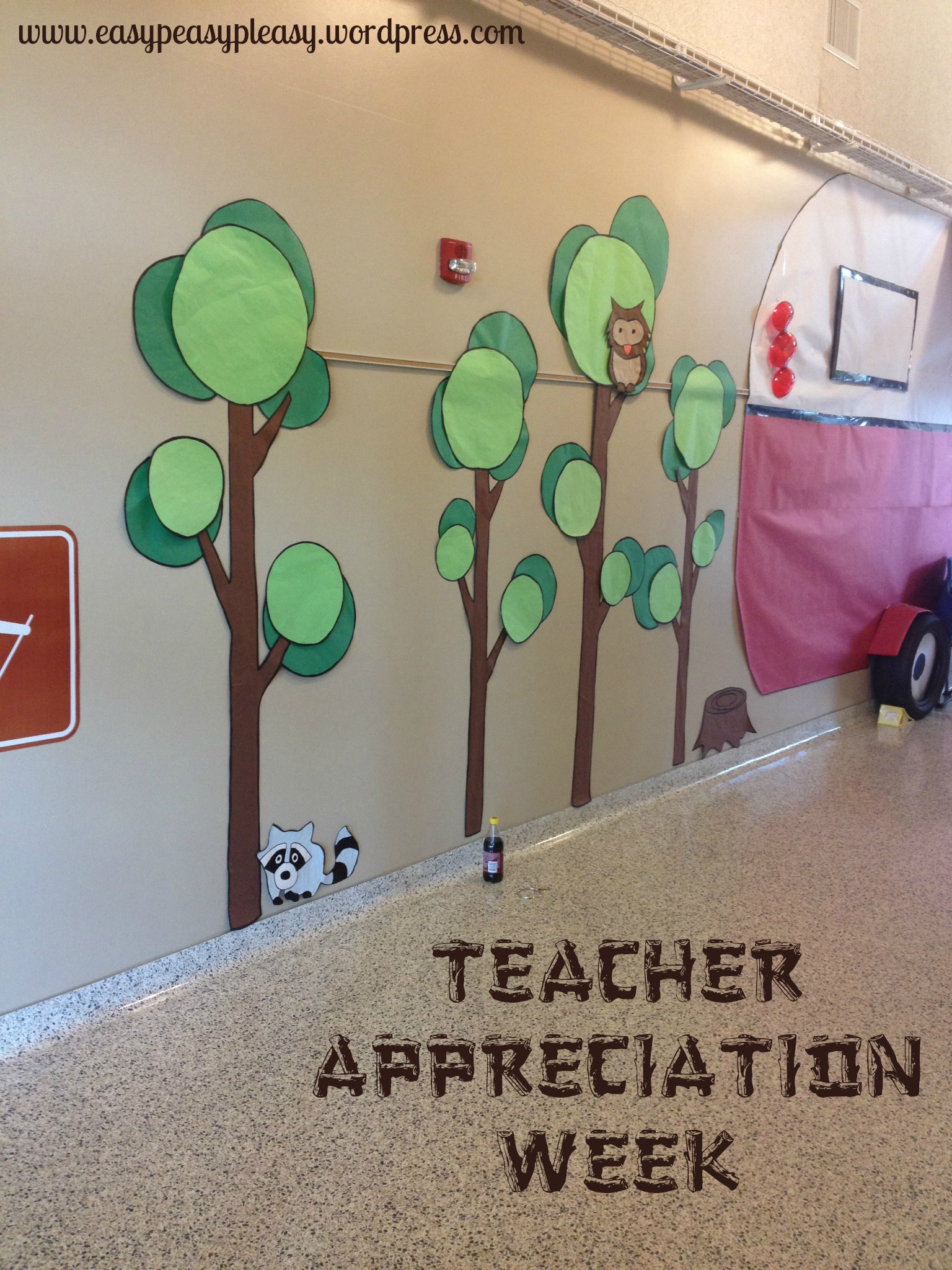 Teacher Appreciation Week Camping Theme DIY Trees