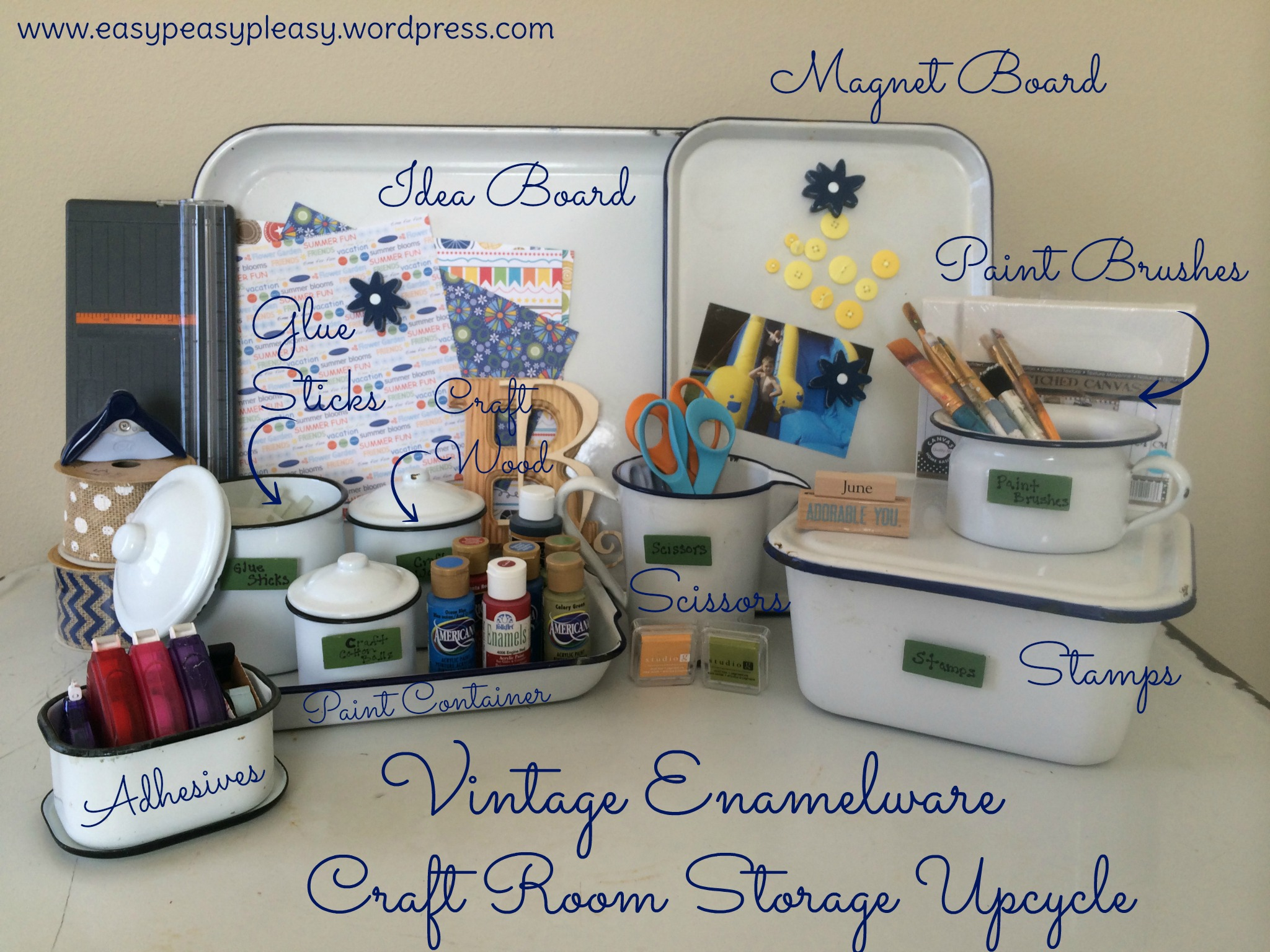 My enamelware obsession easy peasy pleasy for Craft ideas for old dishes