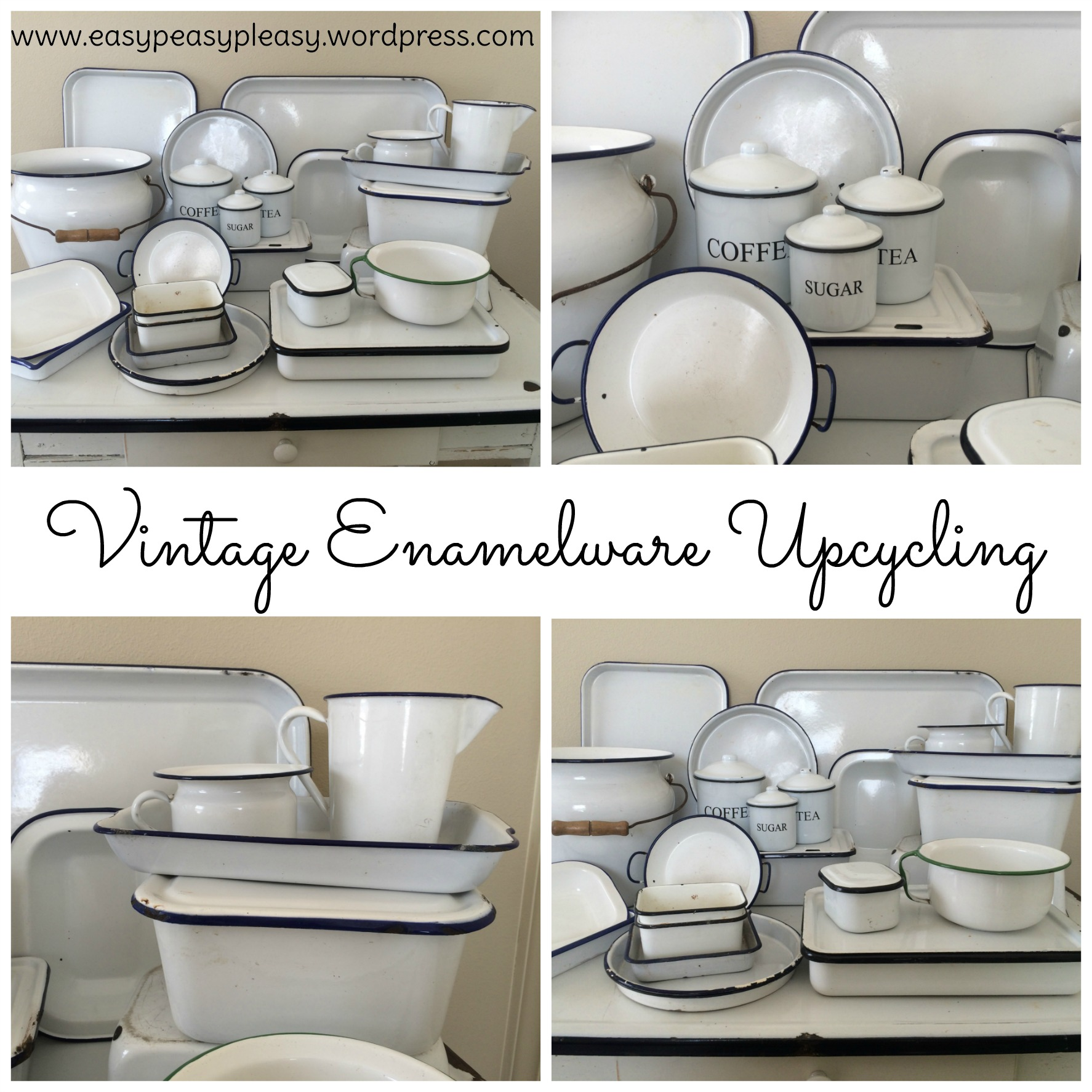 My enamelware obsession easy peasy pleasy - Upcycling ideas for the home ...