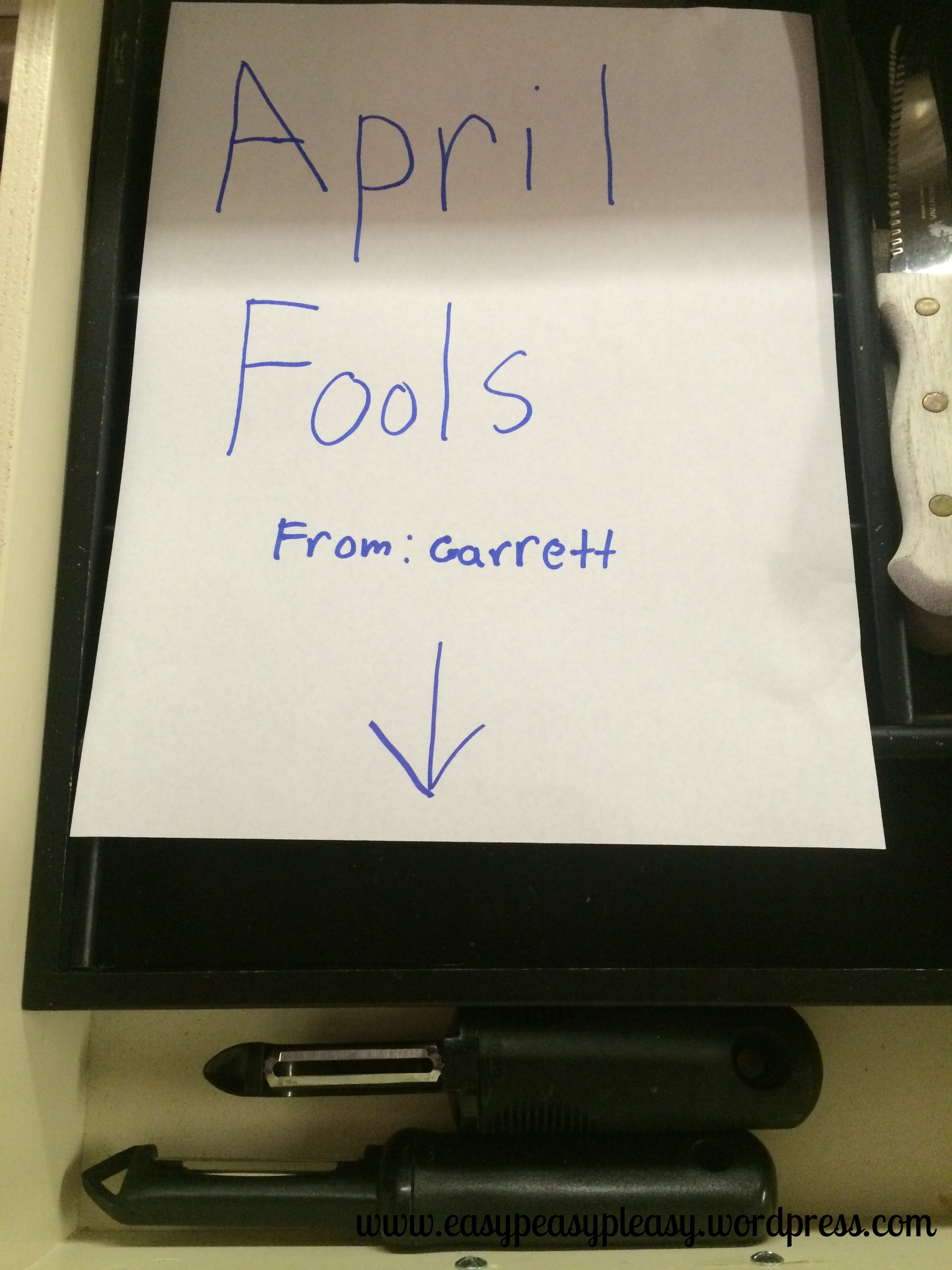 April Fools Day Prank War Silverware gone missing