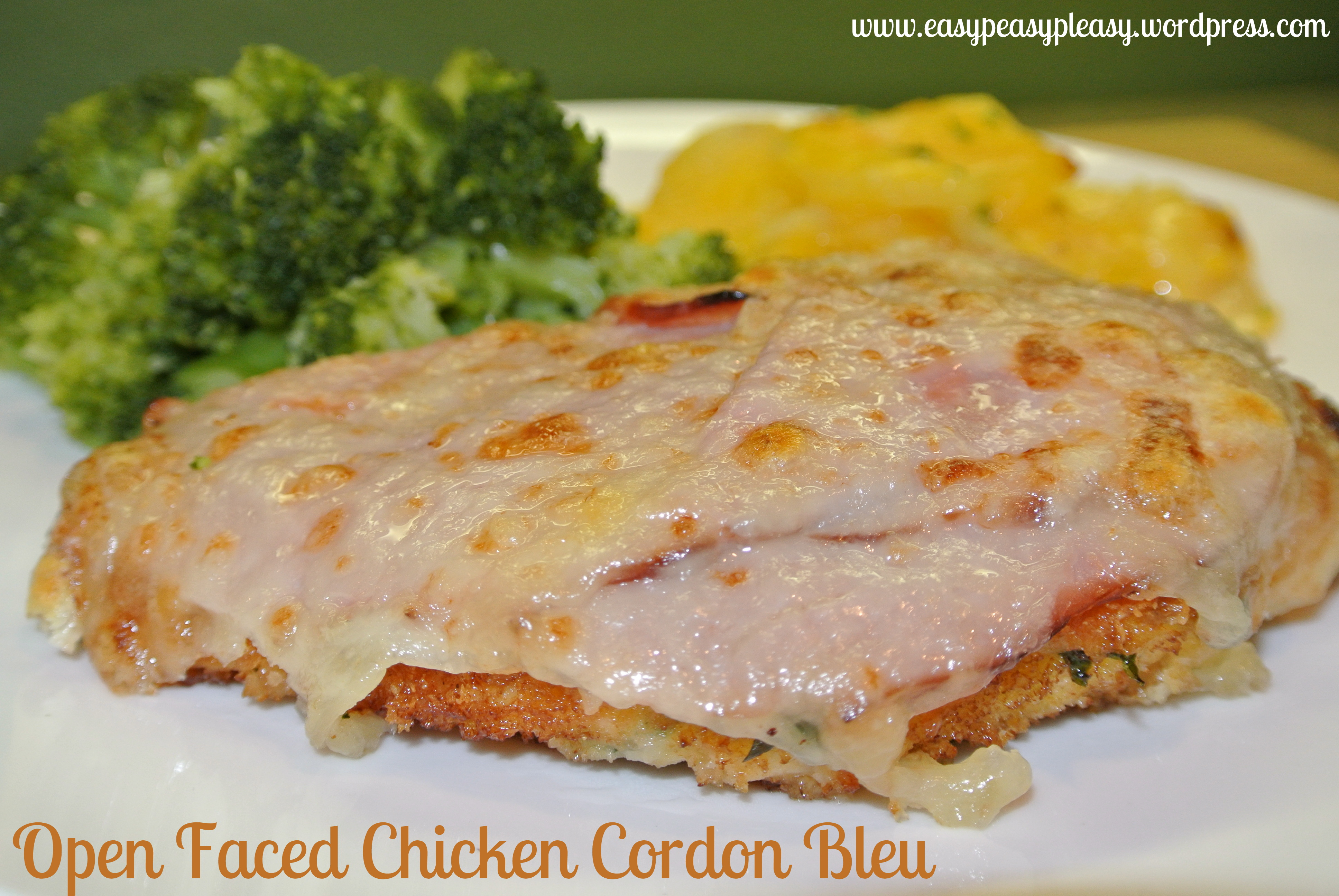 Chicken Cordon Bleu Redo at www.easypeasypleasy.wordpress.com