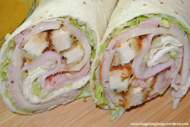 Chicken Cordon Bleu Wraps and recipes at www.easypeasypleasy.wordpress ...