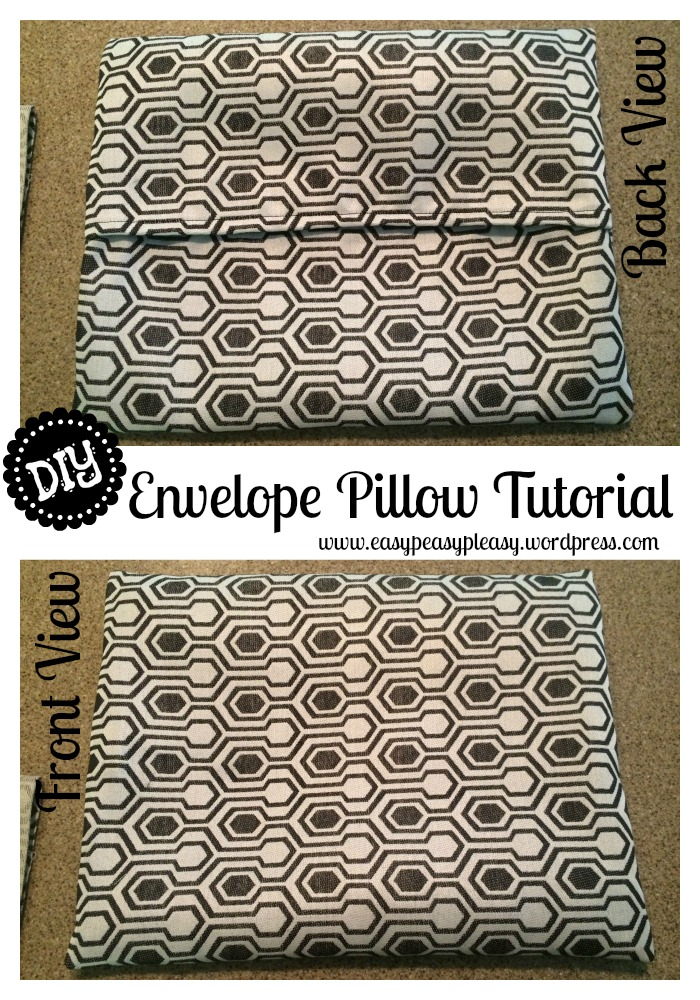 DIY Envelope Pillow Tutorial