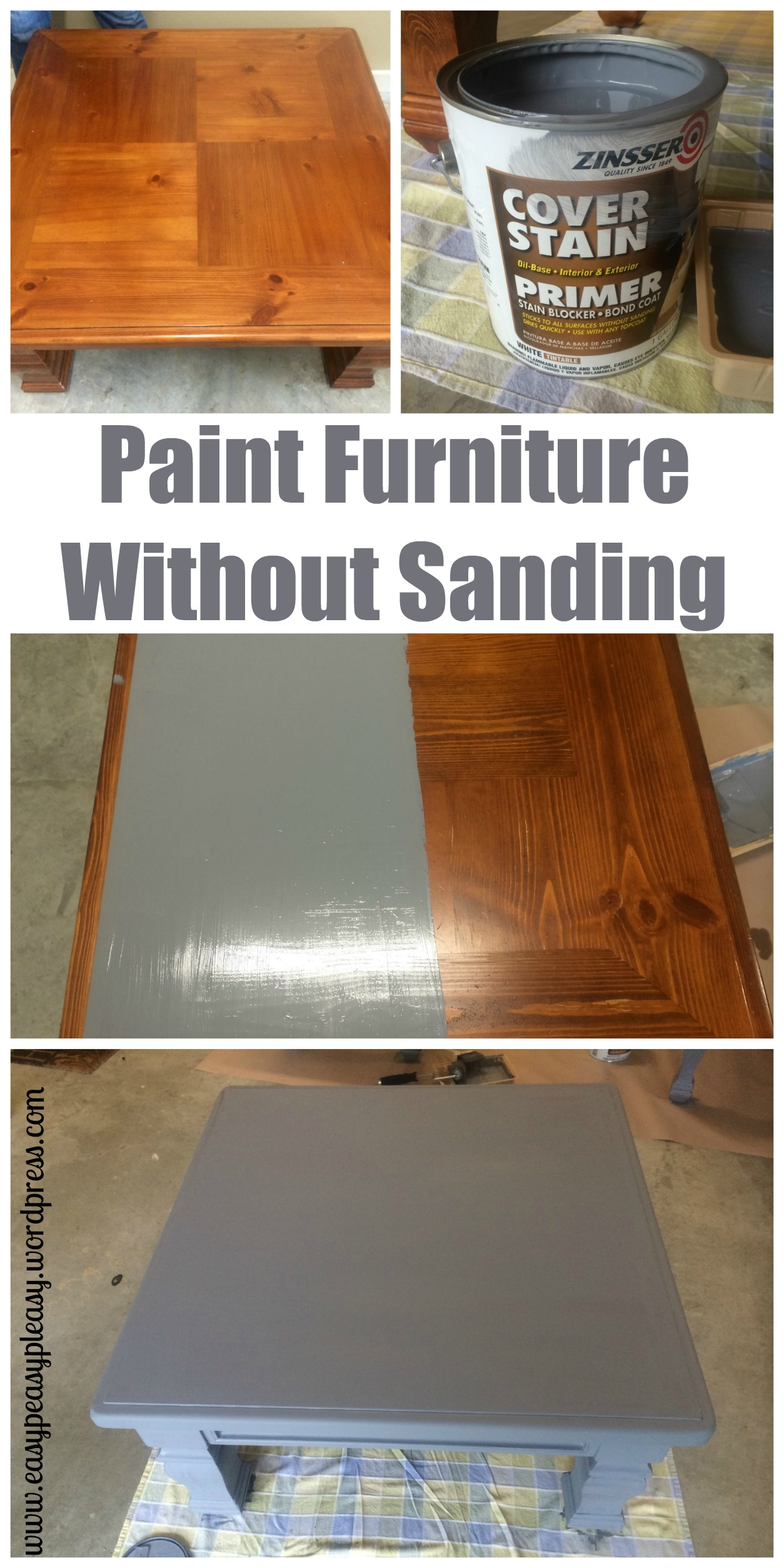 Diy table to ottoman and how to paint furniture without How to spray paint wood furniture