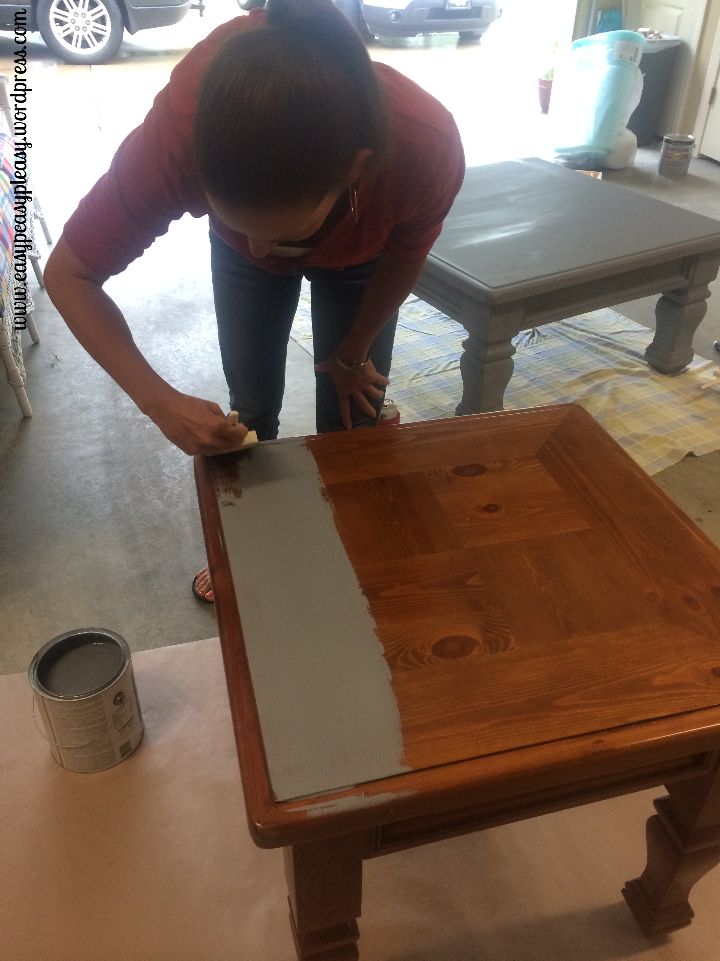 Diy table to ottoman and how to paint furniture without sanding painting cover stain primer as a base coat on furniture so no sanding would be needed geotapseo Choice Image