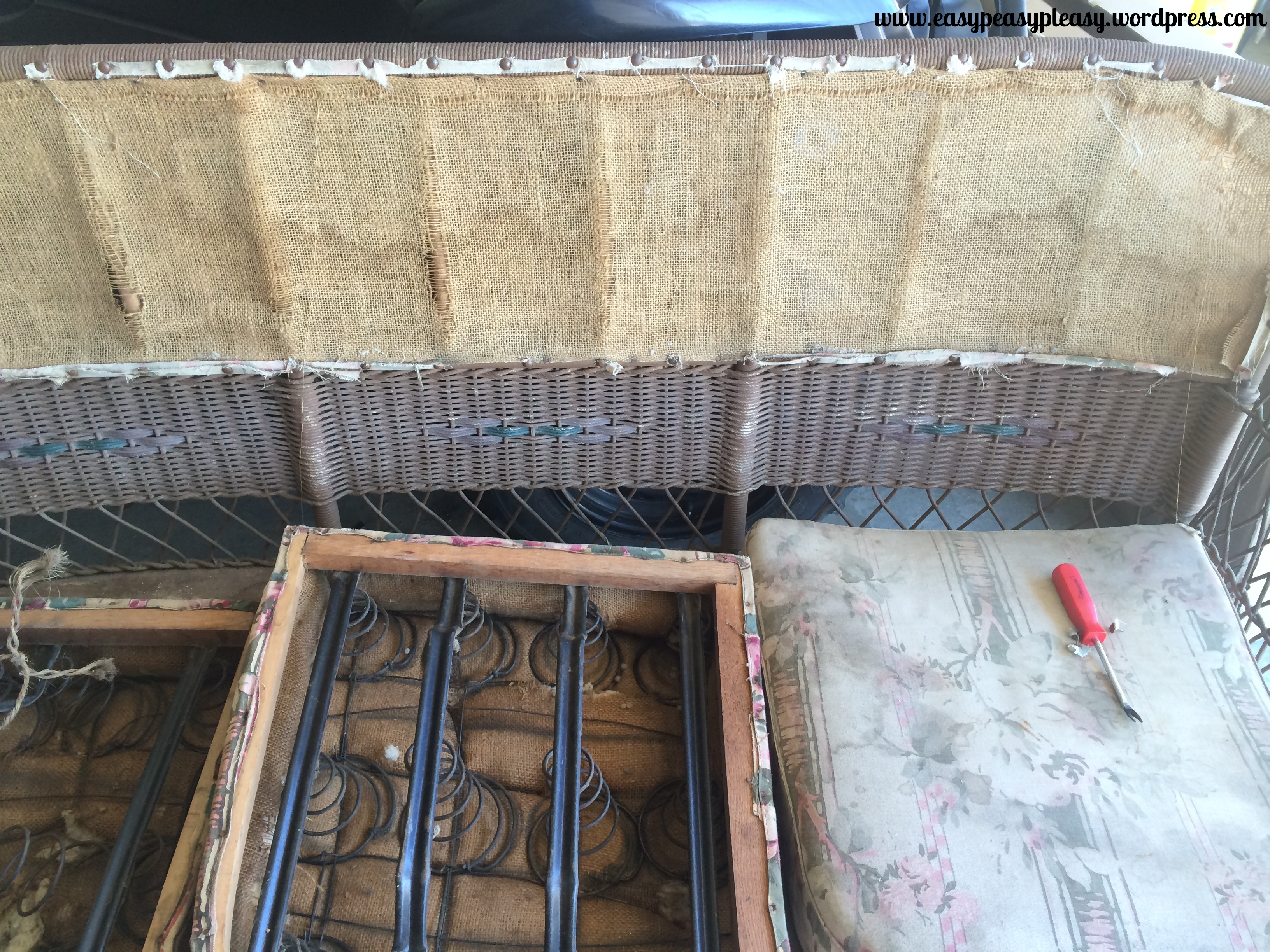 Restoring Wicker Before pictures