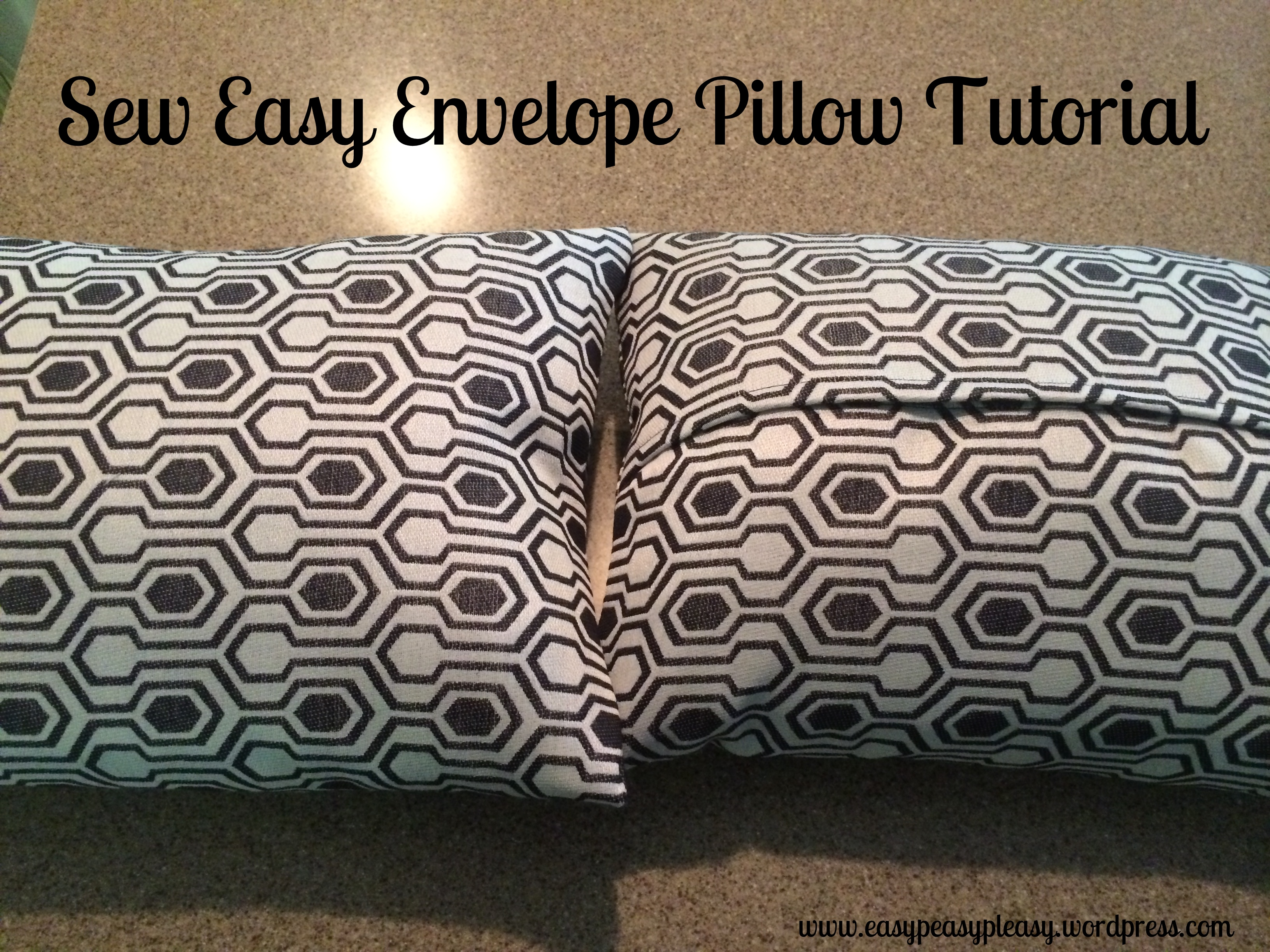 Sew Easy Envelope Pillow Cover Easy Peasy Pleasy