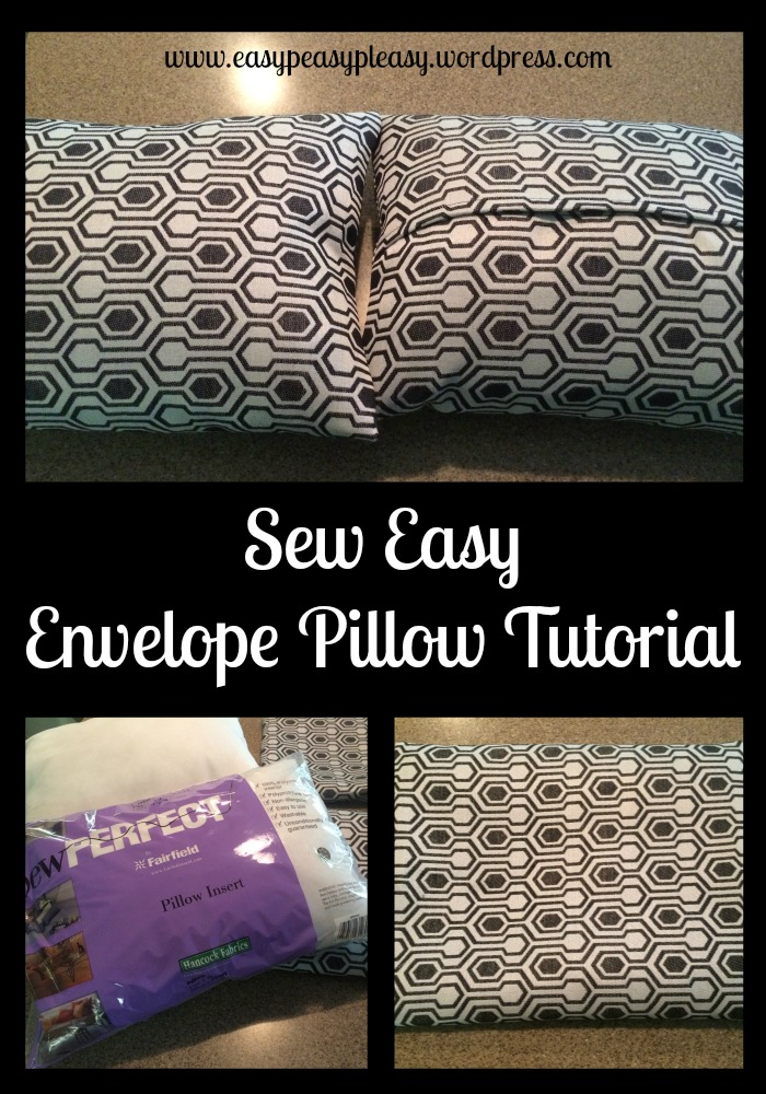Sew Easy Envelope Pillow Tutorial at www.easypeasypleasy.wordpress.com