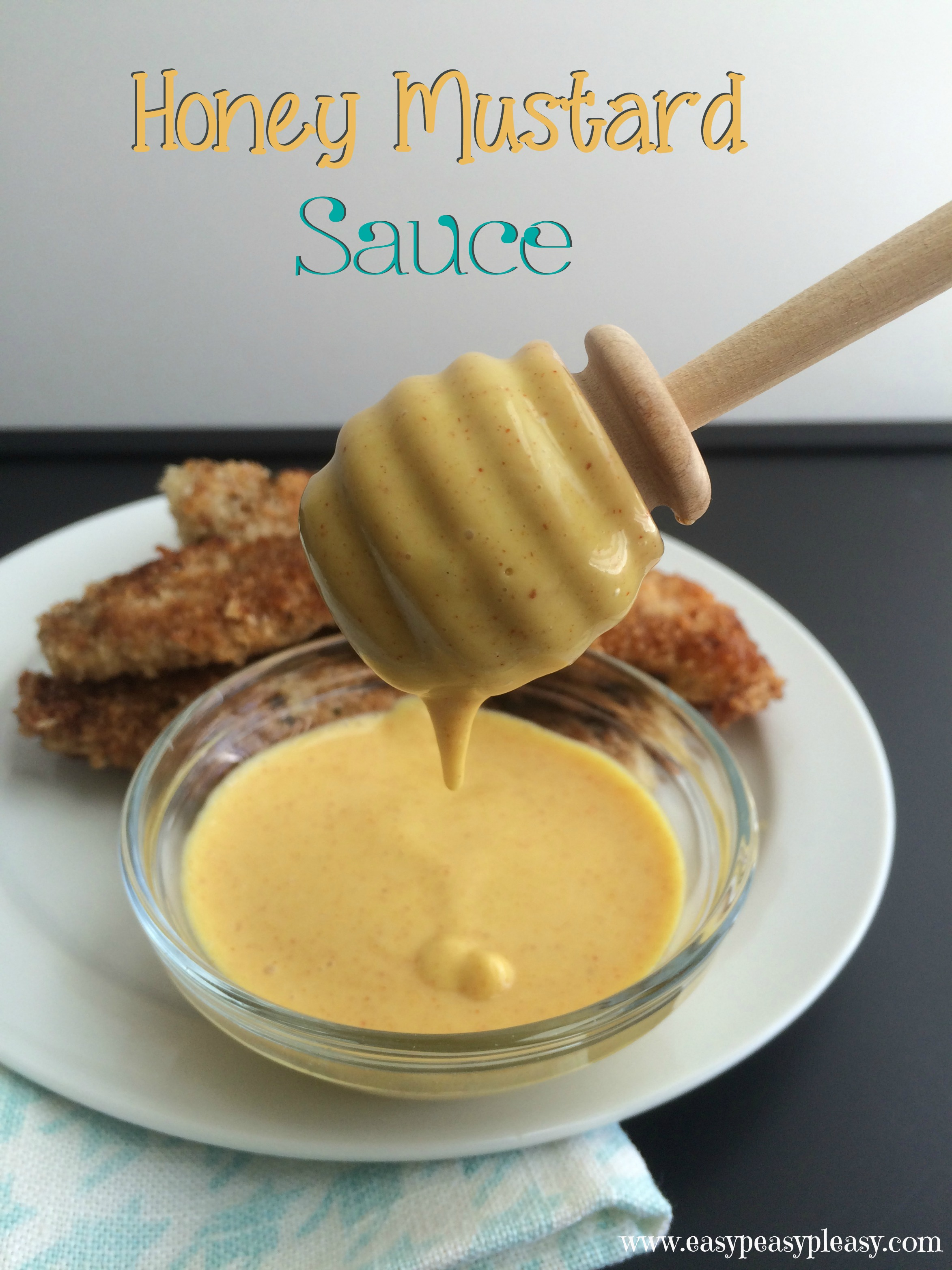 Delicious Honey Mustard Sauce using only 4 Ingredients. Its great for ...