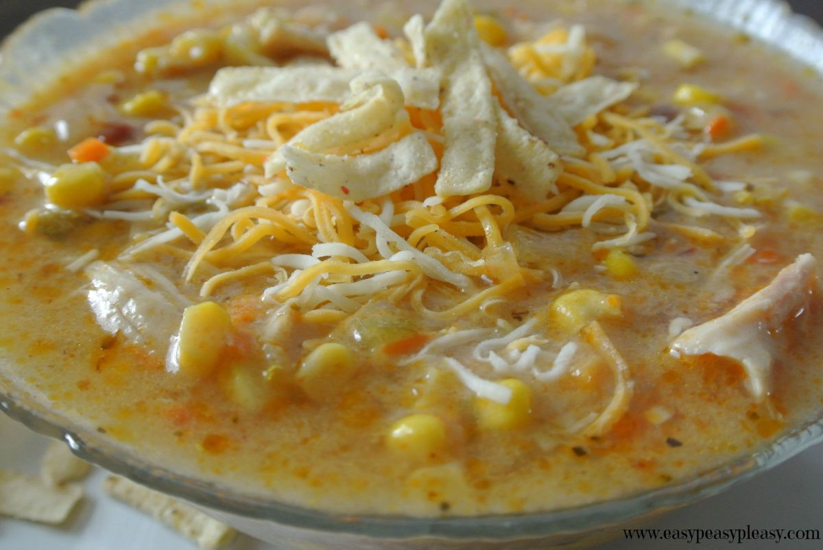 Chicken Chipotle Corn Chowder | Easy Peasy Pleasy