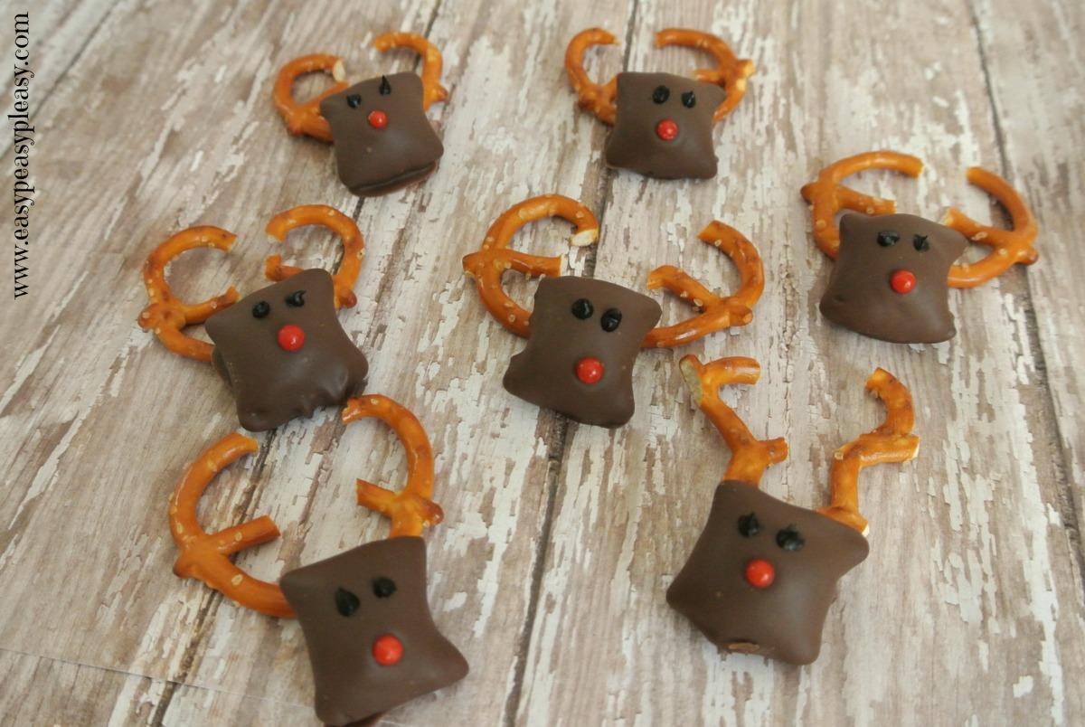 Easy Rudolph Peanut Butter Pretzel Nuggets | Easy Peasy Pleasy